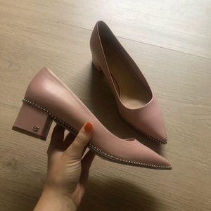 Coach | Pink Willa 45 Leather Block Heel Pumps